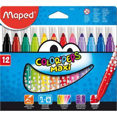 Caneta Hidrocor Jumbo Color Peps Maxi 12 Cores Maped