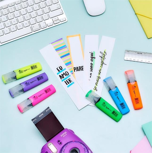 Caneta Marca Texto Neon Fever 6 cores Jocar Office