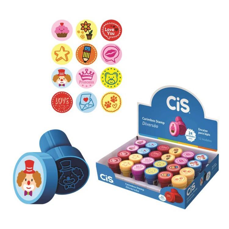 Carimbo Pedagógico Stamp Diversão 1CX com 24 unidades Cis