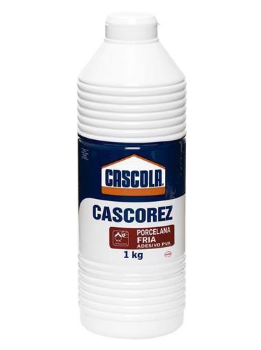 Cola Branca Cascorez Porcelana Fria Adesivo PVA Biscuit 1Kg Cascola