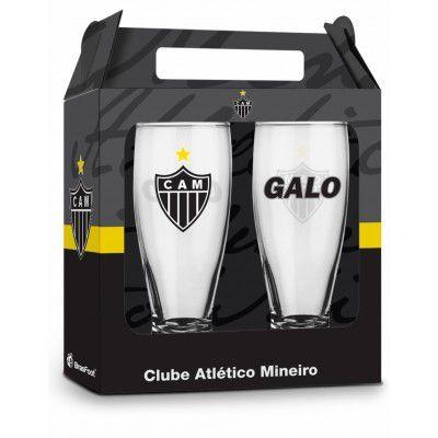 Conjunto 2 Copos Munich Times Atlético Mineiro Galo Presente Brasfoot
