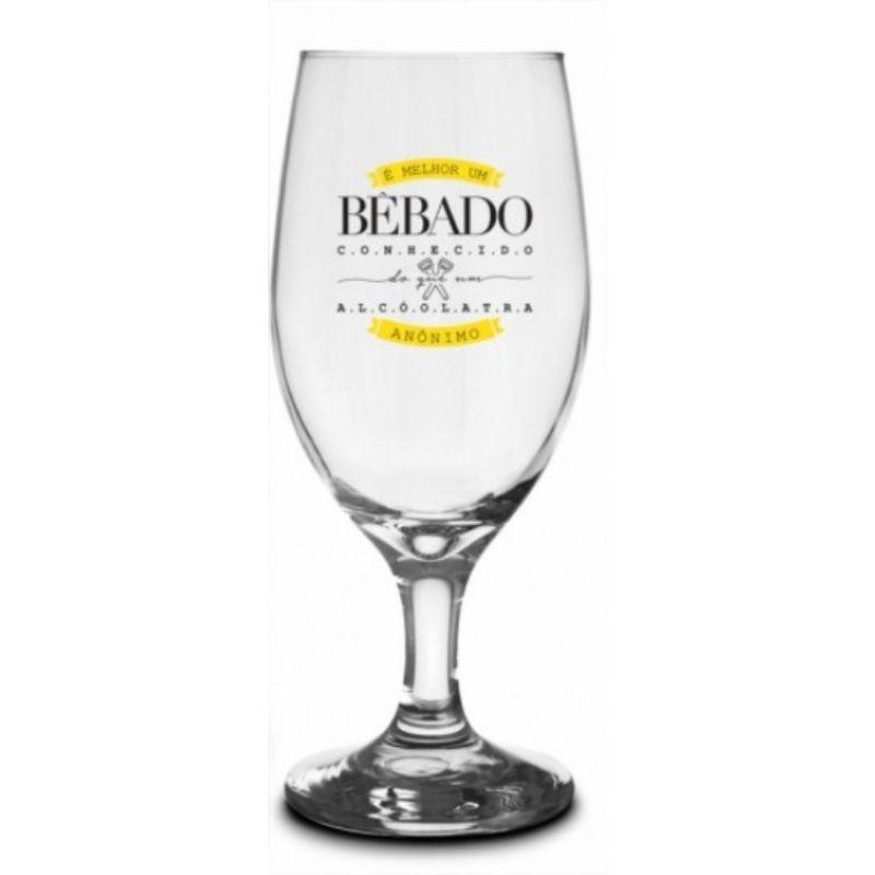 Conjunto 4 Taças Windsor Frases de Bar Presente Brasfoot
