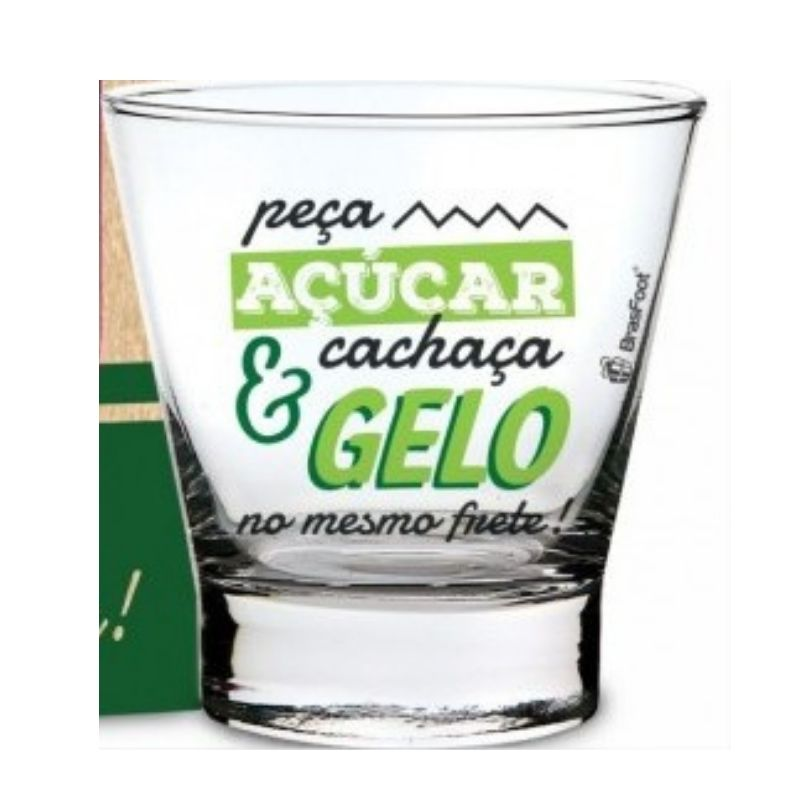 Conjunto Caipirinha Copo Socador e Tábua Presente Brasfoot