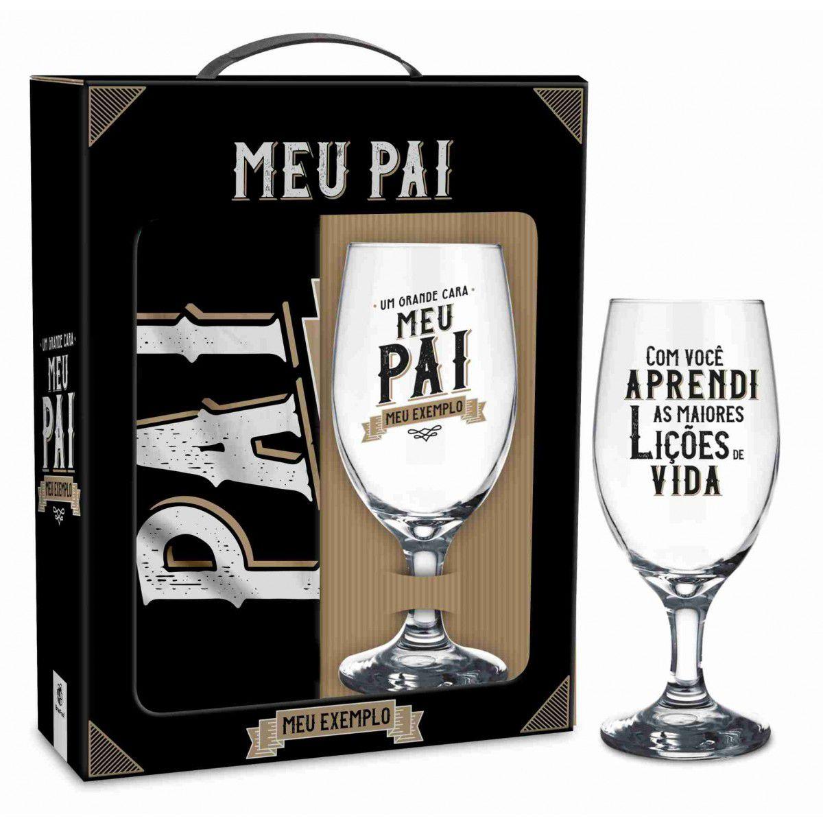 Conjunto Taça Windsor + Avental Pai Meu Exemplo Presente Brasfoot