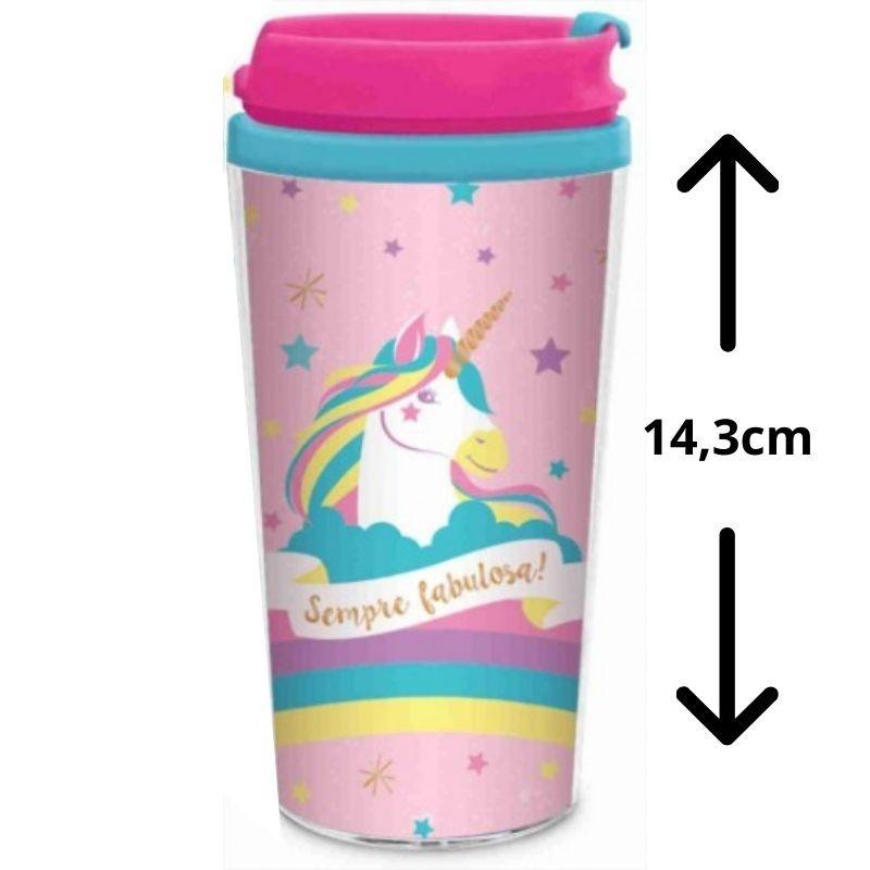 Copo Térmico Smart Infantil Unicornio Presente Brasfoot