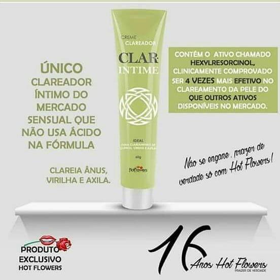 Creme Clareador Intimo Clar intime 60g Hot Flowers