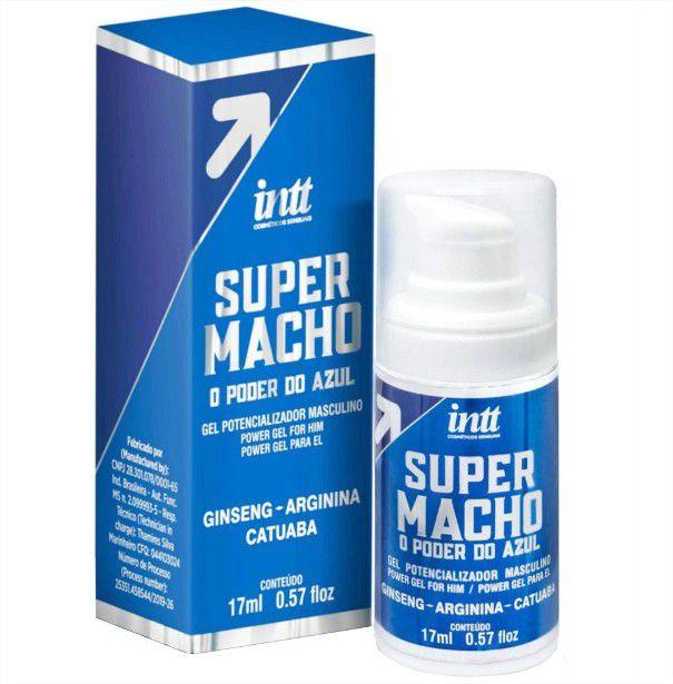 Excitante Estimulante Masculino Super Macho o Poder do Azul 17ml Intt