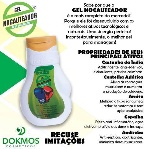 Gel Nocauteador Original 200ml Massagem kit c/3 Dokmos
