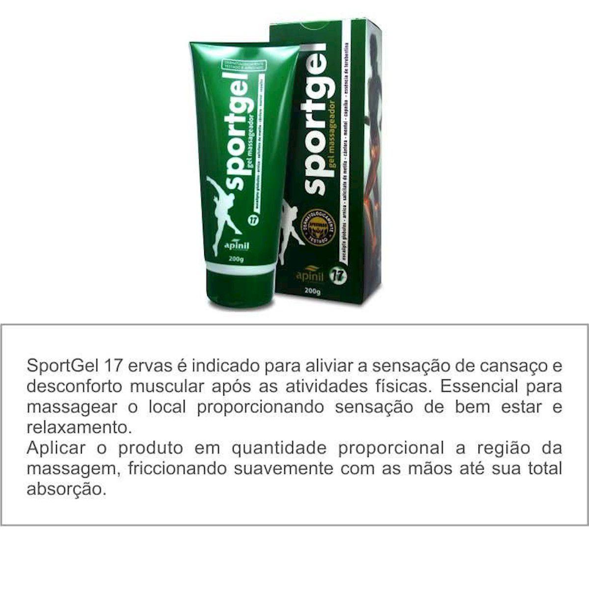 Gel Para Massagem Muscular Relaxante Sportgel 150g Apinil