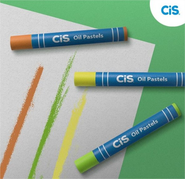 Giz de Cera Pastel Oleoso Oil Pastels 24 cores Cis