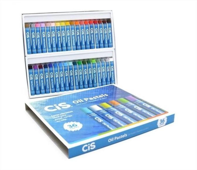 Giz de Cera Pastel Oleoso Oil Pastels 36 cores Cis