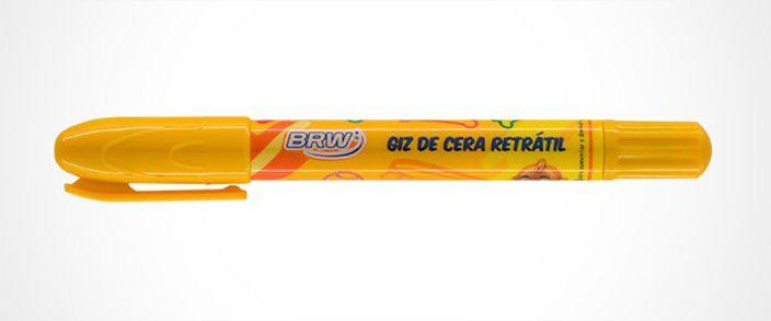 Giz de Cera Retrátil 24 Cores BRW