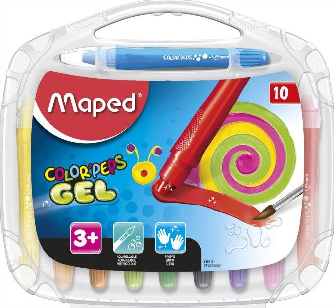 Giz Em Gel Macio Aquarelavel Color Peps 10 Cores Maped