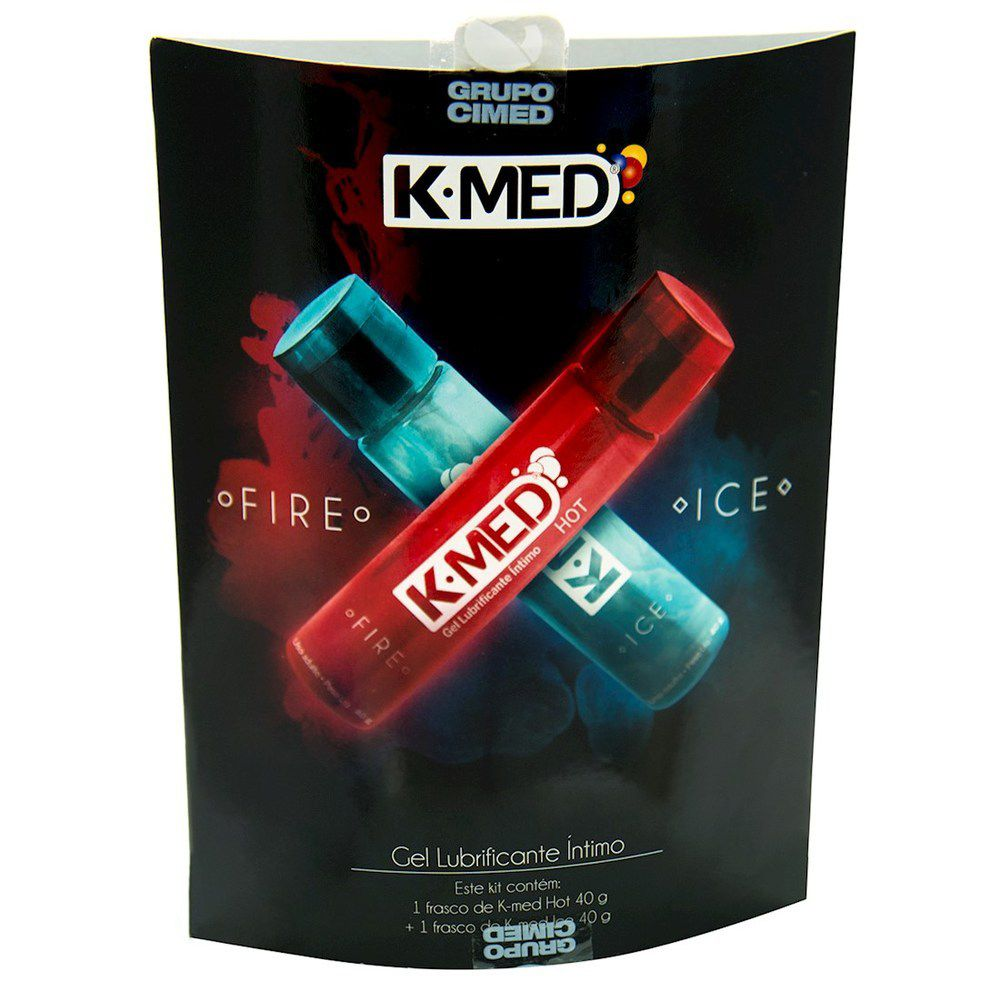 Kit 2 gel Lubrificante Intímo Sensações Fire e Ice 40g cada K-Med