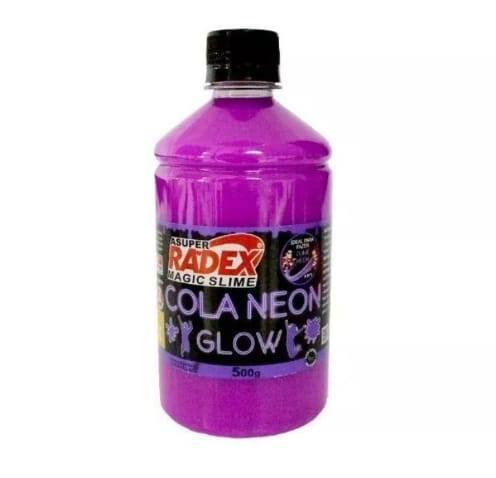 Colas Neon Glow Magic para produção de Slime Kit 3 com 500g cada Radex