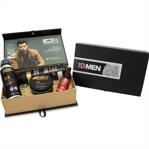 Kit 4 Itens Cuidados com a Barba e Corpo ID Men Red Soft Love