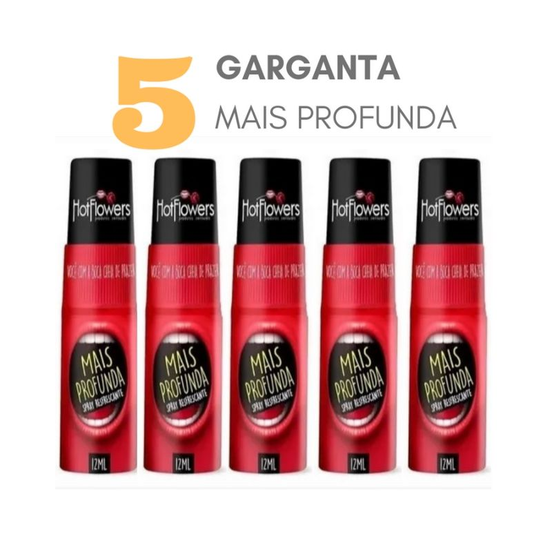 KIT 5 Gel atacado Spray Garganta Mais Profunda Refrescante Sexo Oral 12ml Hot Flowers