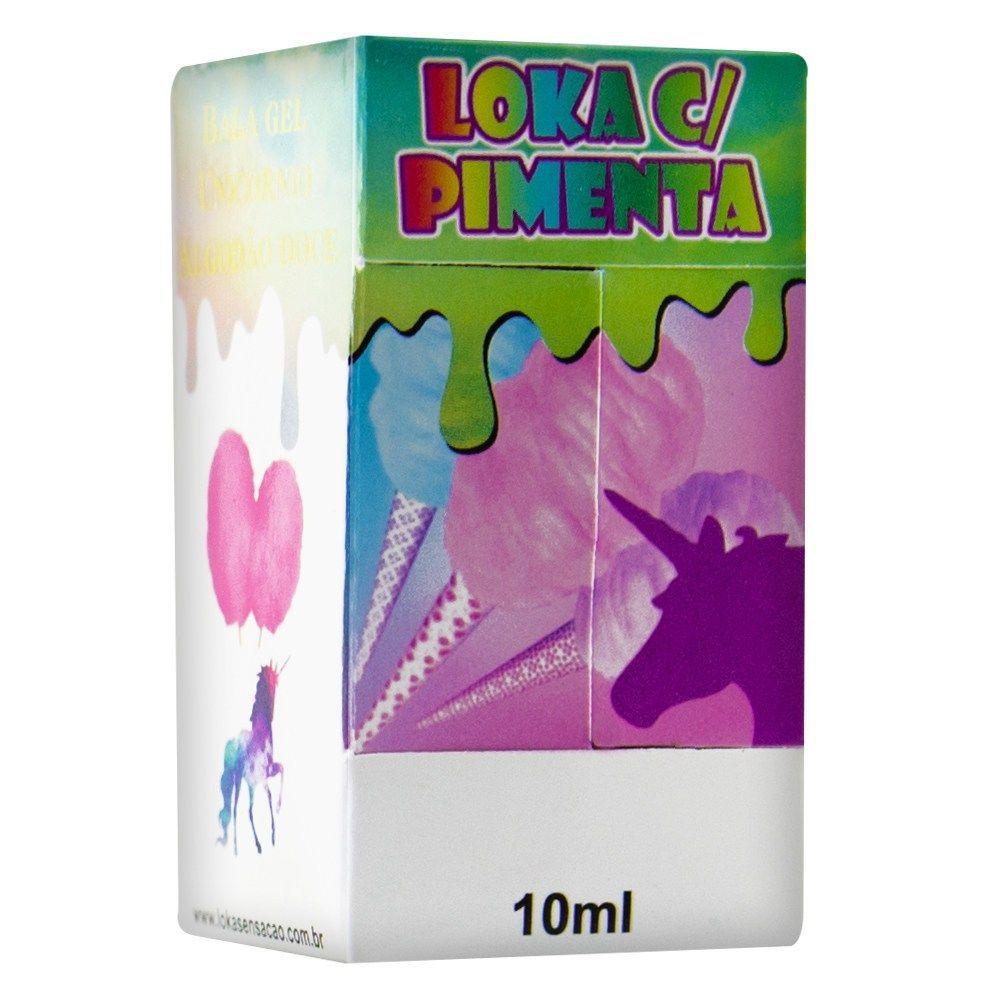 Kit 5 unidades Bala Em Gel Loka com Pimenta Unicórnio 10ml Loka Sensação