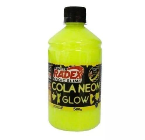 Colas Neon Glow Magic para produção de SlimeKit 6 com 500g cada Radex