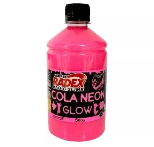 Colas Neon Glow Magic para produção de Slime Kit 6 com 500g cada Radex
