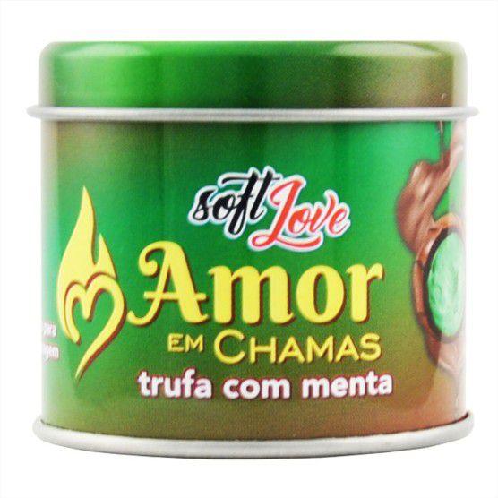 Kit 6 Velas Beijável com Feromônio Amor em Chamas 50g Soft Love