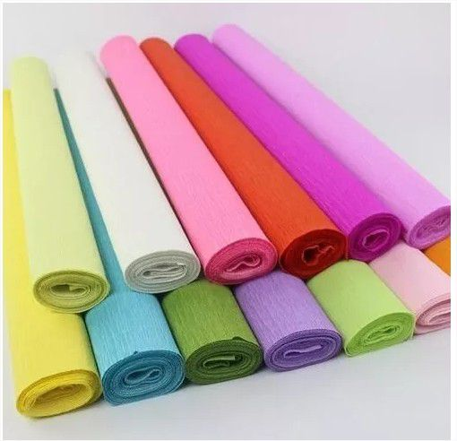 Kit c/ 10 Papel Crepom Colorido 48cmx2M cores variadas Nova Print