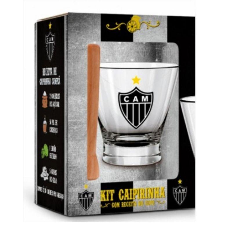 Kit Caipirinha Copo e Socador Atlético Mineiro Galo Brasfoot