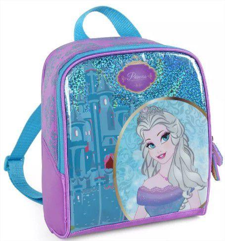 Kit Escolar Infantil Princesa Mochila Lancheira e Estojo Luxcel