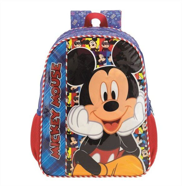 Kit Mochila de Costas e Lancheira Térmica Mickey Mouse Selfie Xeryus