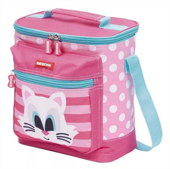 Lancheira Especial Kids Cat Gatinha Rosa Sestini
