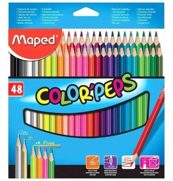 Lápis De Cor Color Peps Classic 48 Cores Maped