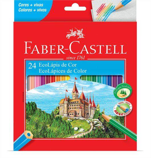 Lápis De Cor Sextavado 24 Cores Faber Castell