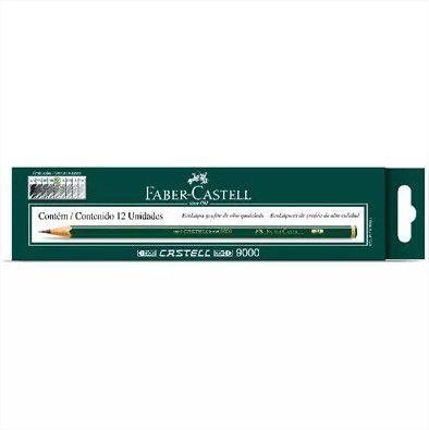 Lápis Preto Técnico 2B Sextavado 90002B CX 12 unidades Faber Castell