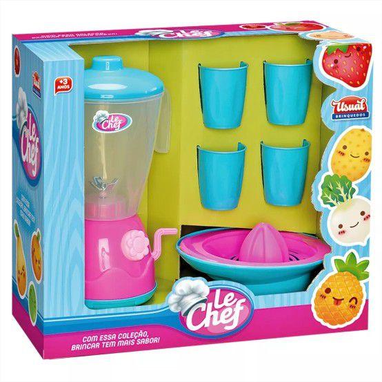 Liquidificador Infantil Le Chef Com Acessórios Usual Brinquedos