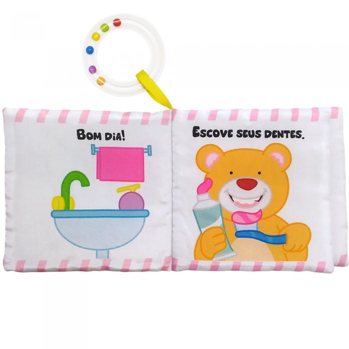Livro de Pano Do Bebê - Um Toque De Carinho! Bom Dia Todo Livro
