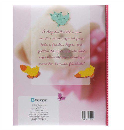 Livro Diário do Bebê Capa Dura Menina Rosa Culturama