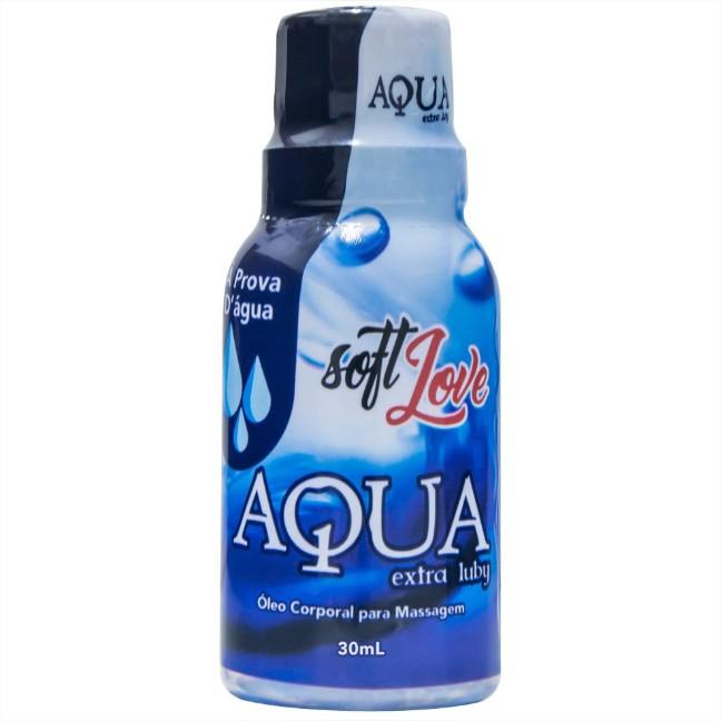 Lubrificante Íntimo Siliconado Aqua Extra Luby 30ml Soft Love