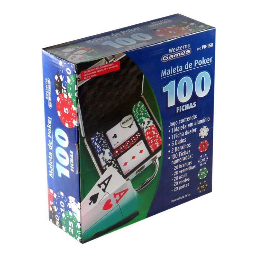 Maleta De Poker 100 Fichas Completo Western Games