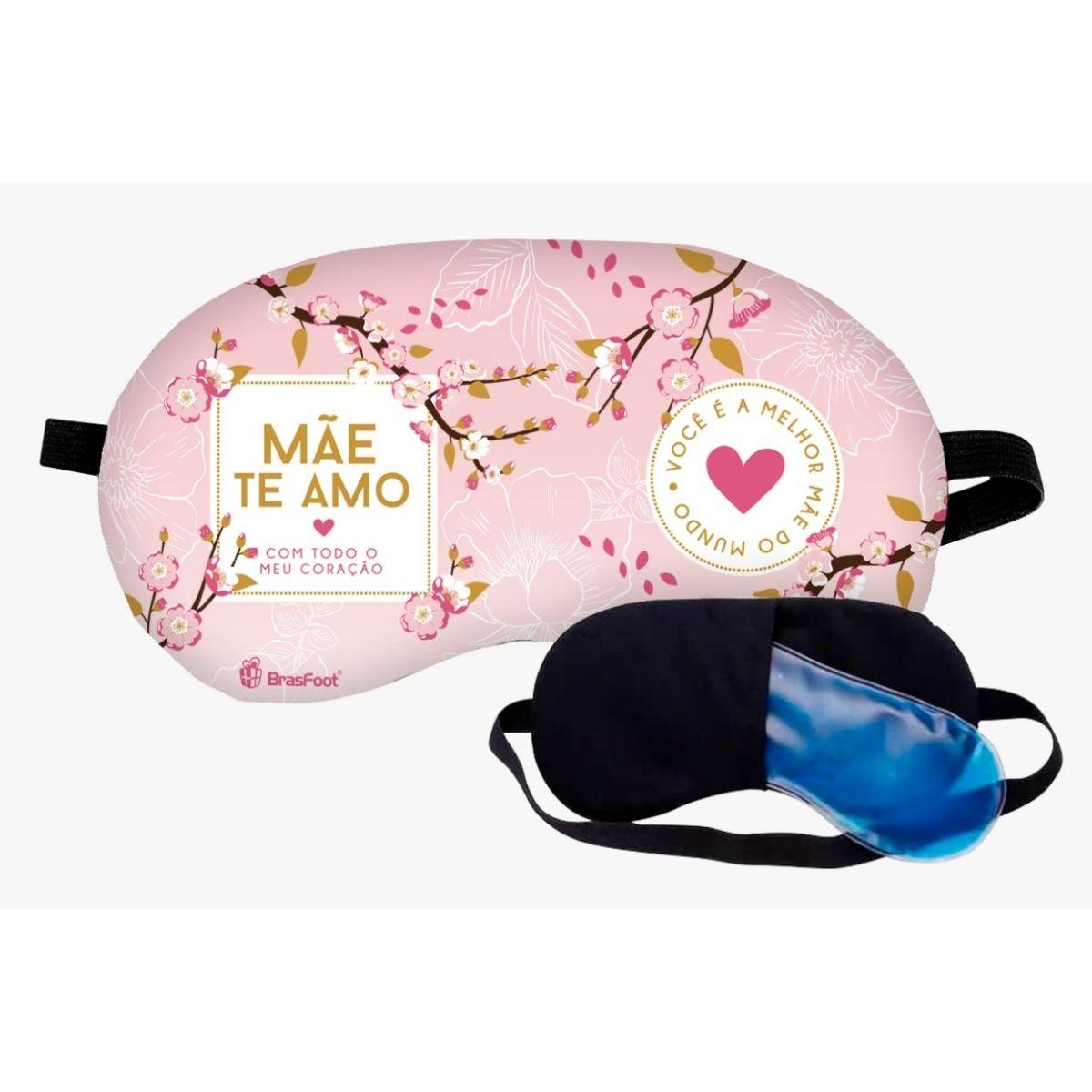 Mascara de Dormir Descanso Para Os Olhos Mãe Te Amo de Coração Presente Brasfoot