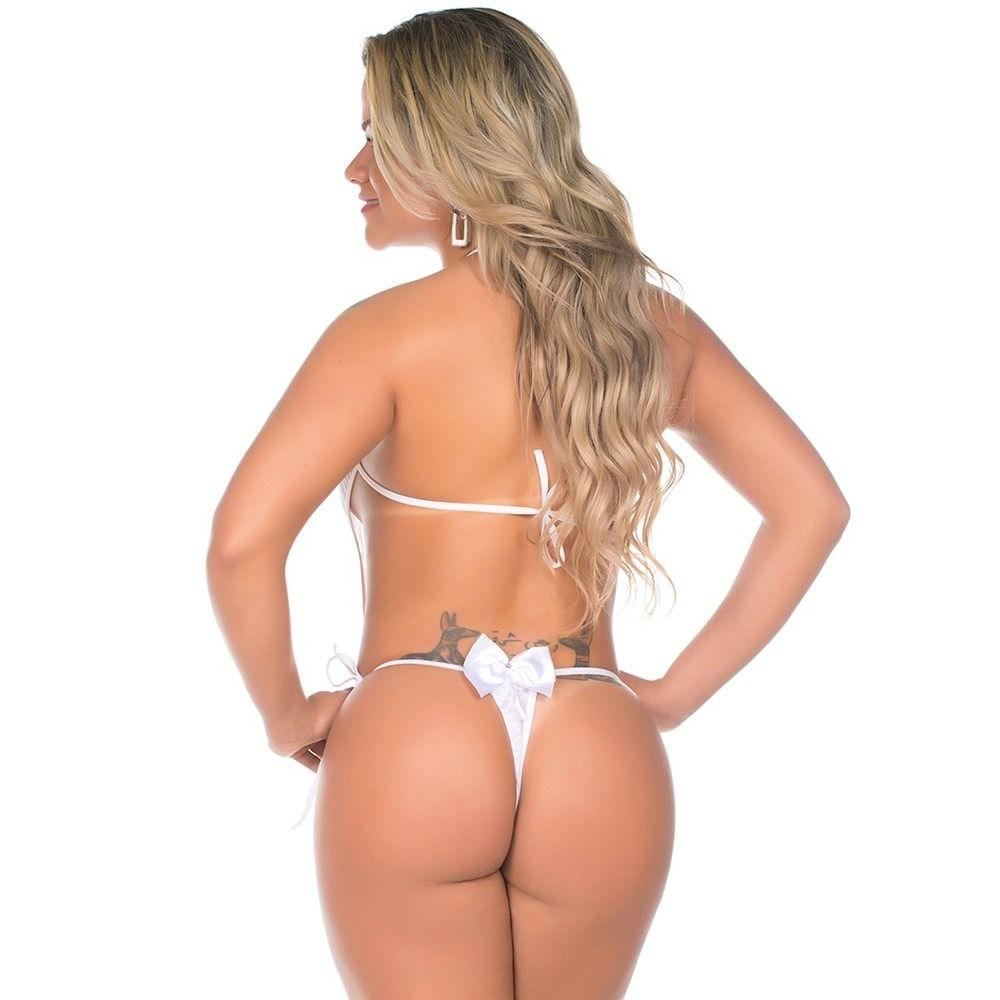 Mini Body Sensual Renda Pimenta Sexy
