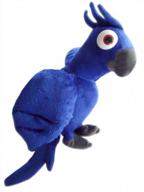 Pelúcia Arara Azul Porta Vibrador com Cadeado Universo das Pelúcias