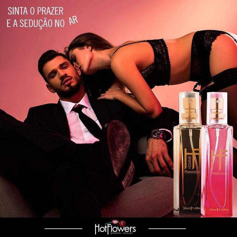 Perfume Deo Colonia Afrodisíaca Masculino Hf Homme Pheromones 30ml Hot Flowers