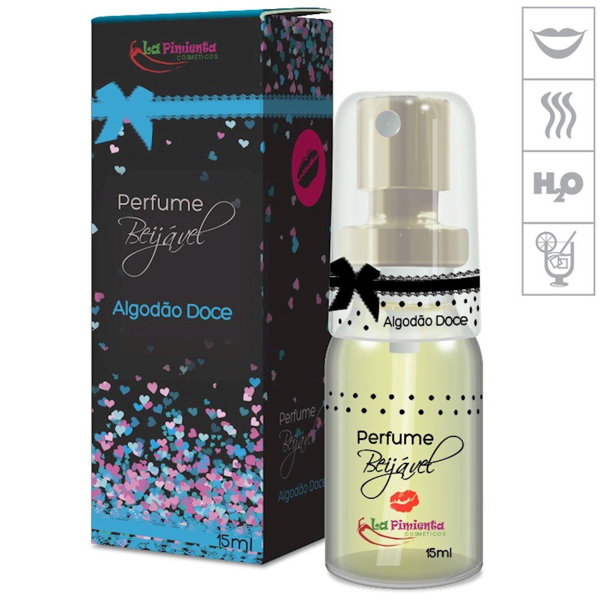Perfume Afrodisíaco Feminino Beijável 1unidade Vários Sabores 15ml La Pimenta