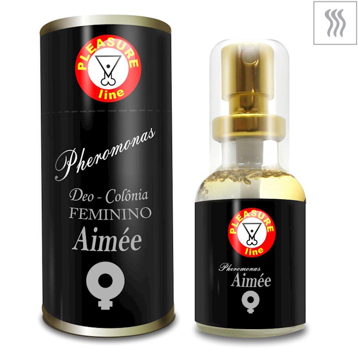 Perfume Afrodisíaco Feminino Ast, Aimee e Jade 1 unid 20ml Pleasure Line