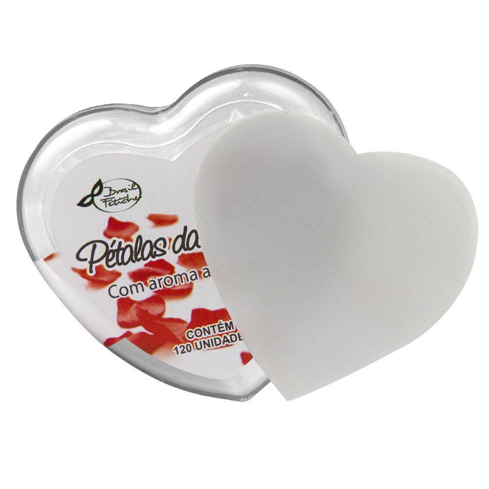 Pétalas da Sedução Branca c/ Aroma Coração de Acrílico 120 unidades Brasil Fetiche