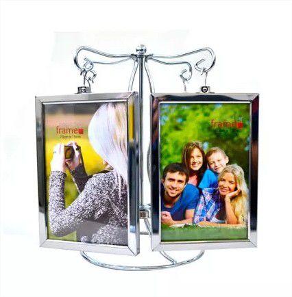 Porta Retrato 10x15cm Pêndulo Metal 8 Fotos Vertical Master