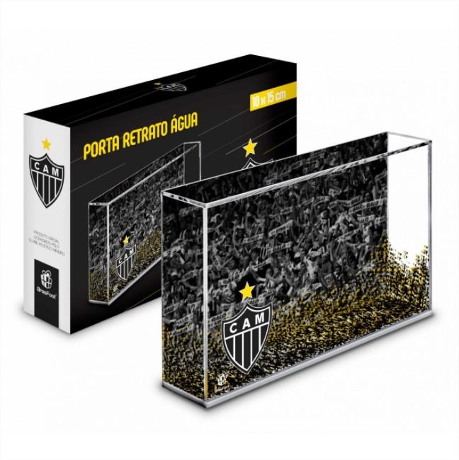 Porta Retrato Água Foto 10x15cm - Atletico Mineiro Galo Presente Brasfoot