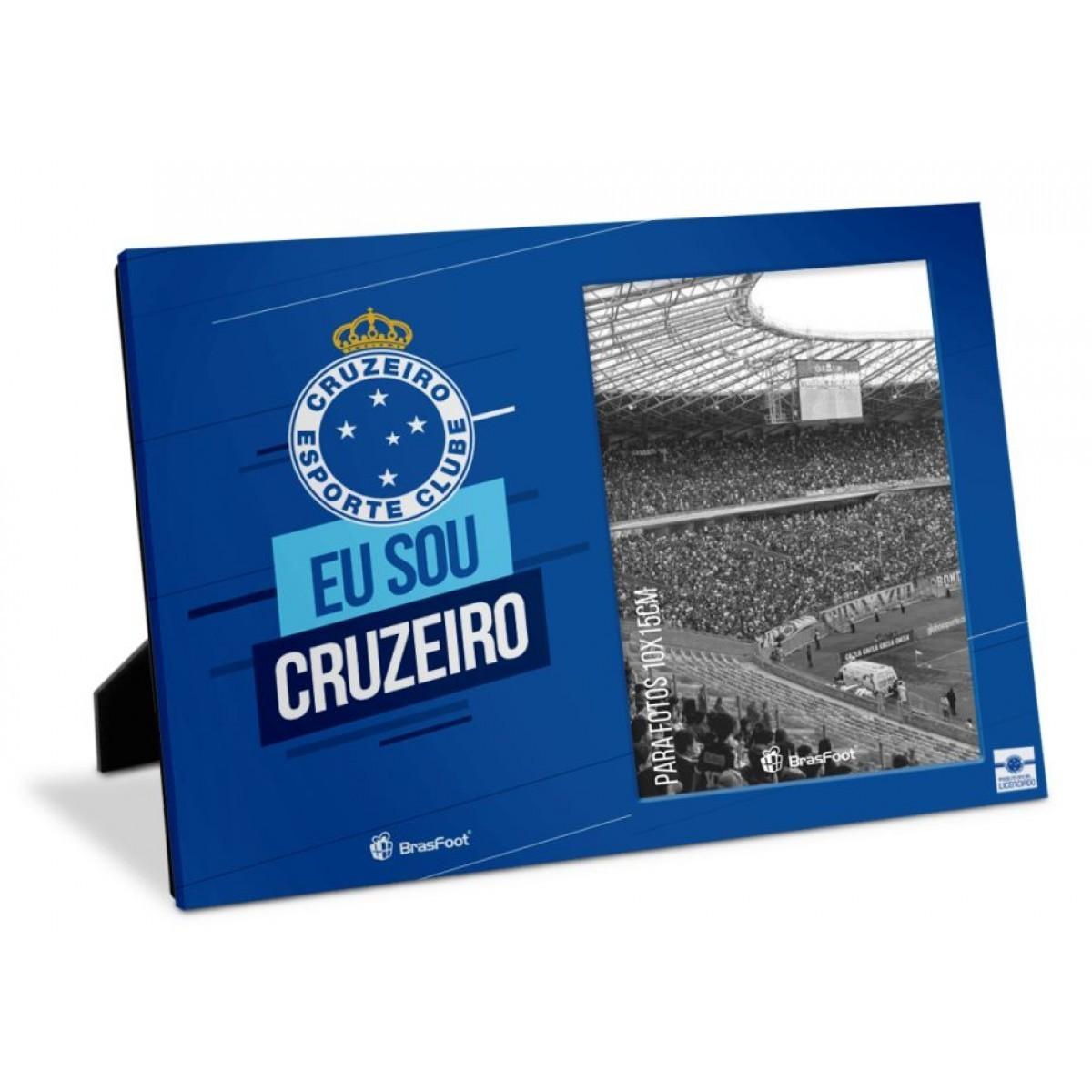 Porta Retrato Foto 10x15cm - Cruzeiro Presente Torcedor Brasfoot