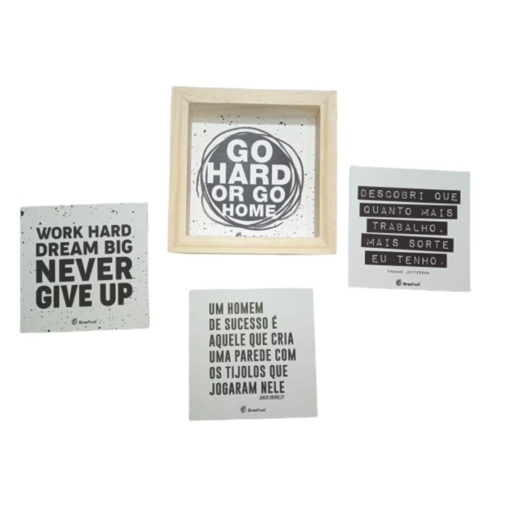 Quadro Cards Mensagens Inspiradoras Frases Motivação Brasfoot