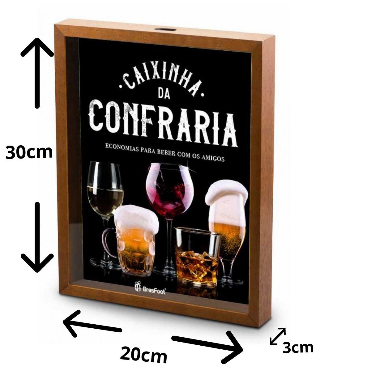 Quadro Cofre Decorativo - Confraria - Economias Para Beber Com Os Amigos 30x20cm Brasfoot